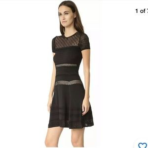 Diane von Furstenberg Celina Black Knit Dress PS